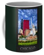 Buckingham Fountain Sears Tower Poster Coffee Mug