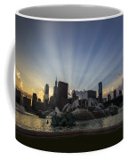 Buckingham Fountain With Rays Of Sunlight Coffee Mug