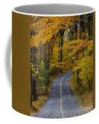 Bucks County Road In Autumn Coffee Mug
