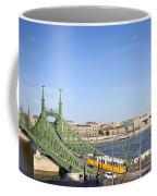 Budapest Cityscape And Liberty Bridge Coffee Mug