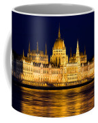 Budapest Parliament At Night Coffee Mug