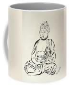 Buddha In Black And White Coffee Mug by Pamela Allegretto