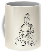 Buddha In Black And White Coffee Mug by Pamela Allegretto
