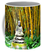 Buddha In The Bamboo Forest Coffee Mug