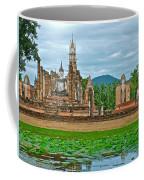Buddhas At Wat Mahathat In 13th Century Sukhothai Historical Park-thailand Coffee Mug
