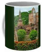 Buddhas In Wat Mahathat In 13th Century Sukhothai Historical Park-thailand Coffee Mug