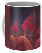 Buddhist Monks, Bhutan, 2012 Acrylic On Canvas Coffee Mug