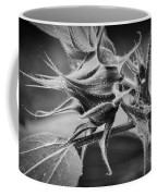 Budding Sunflower In Black And White Coffee Mug