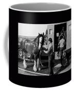 Budweiser Clydesdales Los Vaqueros Rodeo Parade Tucson Arizona 1984 Coffee Mug