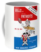 Buffalo Bills 1963 Playoff Program Coffee Mug