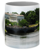 Buffalo History Museum And Delaware Park Hoyt Lake Oil Painting Effect. Coffee Mug