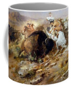 Buffalo Hunt Coffee Mug by Charles Russell