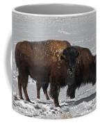 Buffalo In Snow Coffee Mug