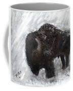 Buffalo In The Snow Coffee Mug