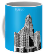 Buffalo New York Skyline 1 - Ice Blue Coffee Mug