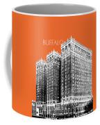 Buffalo New York Skyline 2 - Coral Coffee Mug