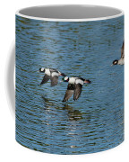 Bufflehead Duck Trio In Flight Coffee Mug
