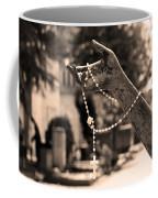 Buiatti Memorial Marker Detail Monumental Cemetery Sepia Coffee Mug
