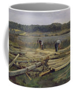 Building Site At Wesslingersee, 1876 Oil On Canvas Coffee Mug