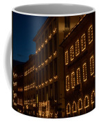 Building Windows Outlined In Lights Coffee Mug