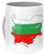 Bulgaria Painted Flag Map Coffee Mug