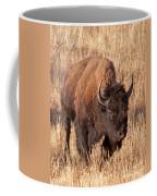 Bull Bison Running In Yellowstone National Park Coffee Mug