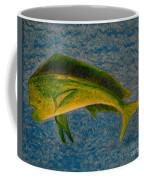 Bull Dolphin Mahimahi Fish Coffee Mug