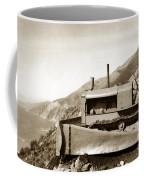 Bull Dozer Road Construction On Highway One Big Sur Circa 1930 Coffee Mug