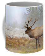 Bull Elk Bugles Loves In The Air Coffee Mug