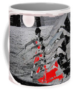 Bull Fight Matador Charging Bull Us Mexico Border Town Nogales Sonora Mexico Collage 1978-2012 Coffee Mug