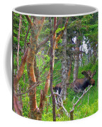 Bull Moose In Cape Breton Highlands Np-ns Coffee Mug