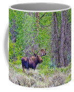 Bull Moose In Gros Ventre Campground In Grand Tetons National Park-wyoming Coffee Mug