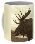 Bull Moose In Sepia Coffee Mug