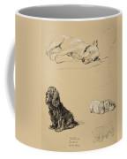 Bull-terrier, Spaniel And Sealyhams Coffee Mug by Cecil Charles Windsor Aldin