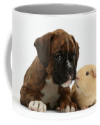 Bulldog Puppy With Yellow Guinea Pig Coffee Mug