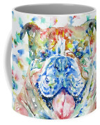 Bulldog - Watercolor Portrait Coffee Mug