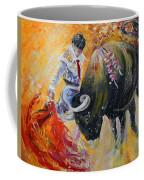 Bullfighting In Neon Light 02 Coffee Mug