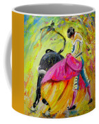 Bullfighting In Neon Light 01 Coffee Mug
