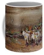 Bullock Cart On Cross Country Road  Coffee Mug