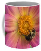 Bumble Bee Dahlia Coffee Mug