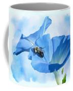 Bumblebee And Blue Morning Glory Coffee Mug
