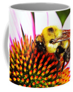 Bumblebee On Echinacea  Coffee Mug