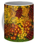 Bunches Of Yellow Copper Orange Red Maroon - Hot Autumn Abundance Coffee Mug