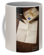 Bundle Of Vintage Letters With Fountain Pen Coffee Mug