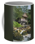 Bungalow In Koh Rong Island Beach In Cambodia Coffee Mug