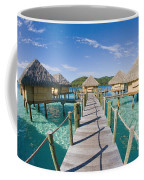 Bungalows Over Ocean Coffee Mug