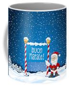 Buon Natale Sign Santa Claus Winter Landscape Coffee Mug by Frank Ramspott