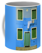 Burano Blue And Green Coffee Mug