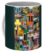 Burano Italy Collage Coffee Mug