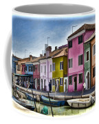 Burano Italy - Colorful Homes Coffee Mug